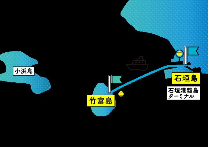 竹富島のアクセスマップ